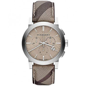 Watch strap Burberry BU9361 Leather Brown