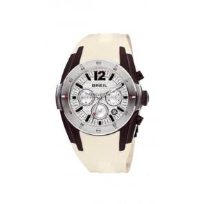 Watch strap Breil BW0235 Rubber Cream white