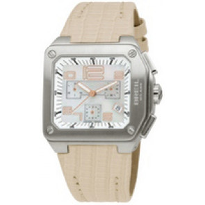 Watch strap Breil BW0398 Leather Beige 18mm