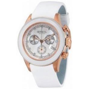 Watch strap Breil BW0516 Leather White