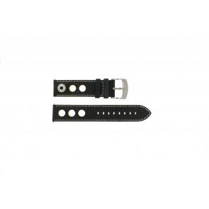 Watch strap Camel BC51026 / A661.3522A.LBPA Leather Black 22mm