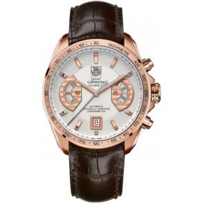 Watch strap Tag Heuer CAV514B / BX0849 / BX0870 XL Crocodile skin Brown 22mm