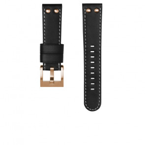 TW Steel watch strap CEB105 / CE105 Leather Black 22mm + white stitching