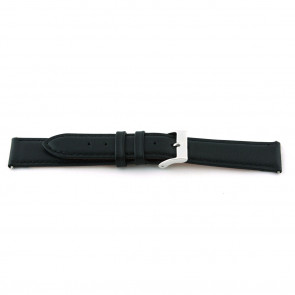 Watch strap F012 XL Leather Black 18mm + standard stitching