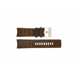 Watch strap Diesel DZ4037 Leather Brown 26mm
