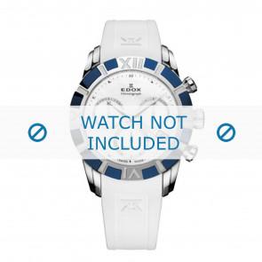 Edox watch strap 10405-357B-NAIN Silicone White 18mm