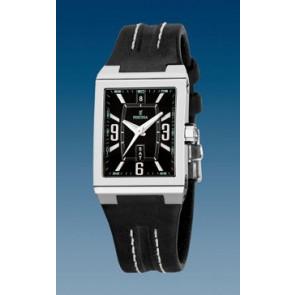 Watch strap Festina F16186/07 Leather Black