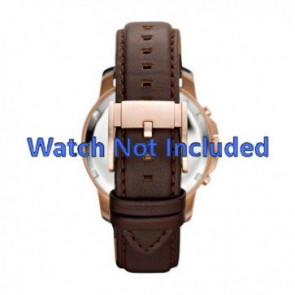 Fossil watch strap FS-4648 Leather Brown 22mm