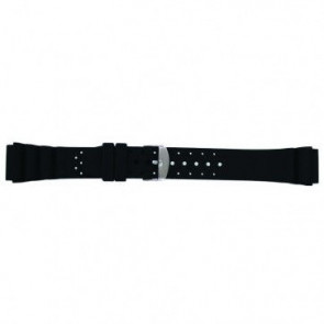 Watch strap SL100 Silicone Black 24mm