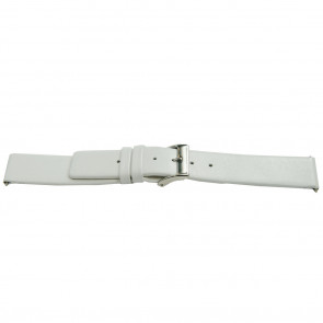 Watchband leather white 28mm EX-K510