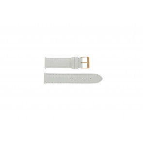 Watch strap Guess W17516L1 Leather White 20mm