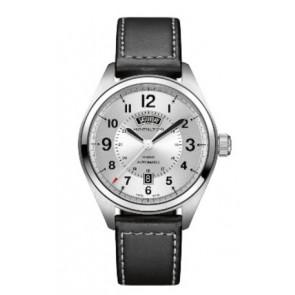 Watch strap Hamilton H001.70.505.753.01 Leather Black 20mm