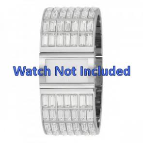 DKNY watch strap NY-3768 Steel Silver 20mm