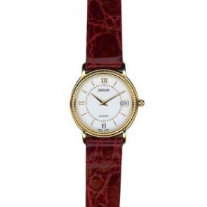 Watch strap Jaguar J601-1 / J601-7 Leather Bordeaux 14mm
