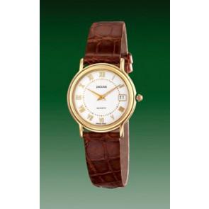 Watch strap Jaguar J601-2 Leather Brown 14mm