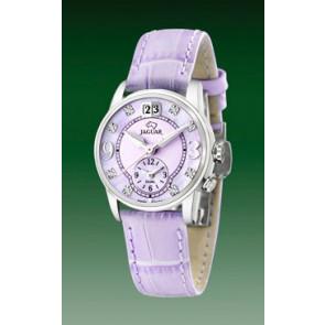 Watch strap Jaguar J624-B Leather Purple 17mm