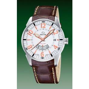 Watch strap Jaguar J628/1 Croco leather Brown