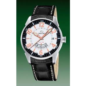 Watch strap Jaguar J628/2 Croco leather Black