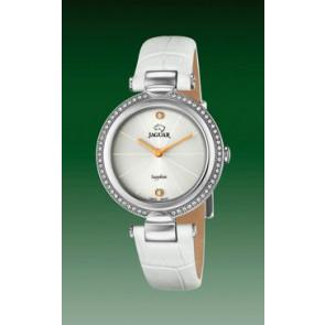 Watch strap Jaguar J832-1 Leather White