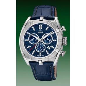 Watch strap Jaguar J857-2 Leather Blue