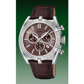 Watch strap Jaguar J857-6 Leather Brown