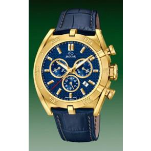 Watch strap Jaguar J858-2 Leather Blue
