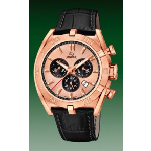 Watch strap Jaguar J859-1 / J859-3 Leather Black