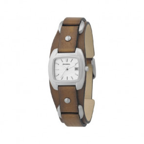 Watch strap Fossil JR8897 Leather Brown 12mm