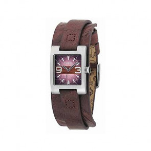 Watch strap Fossil JR9515 Leather Brown 12mm