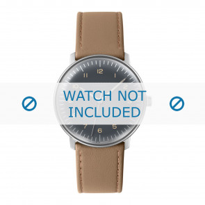 Junghans watch strap 027/3401.00 Leather Beige 20mm + standard stitching