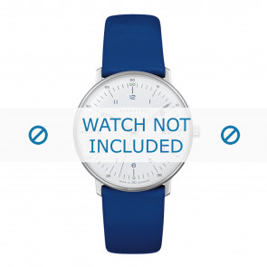 Watch strap Junghans 047/4540.00 Leather Blue 18mm