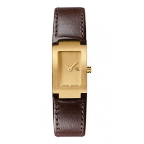 Watch strap Calvin Klein K600026550 / K0411209 Leather Brown