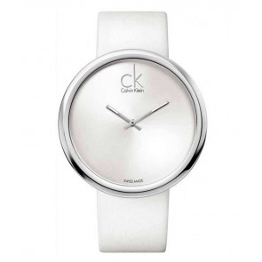 Watch strap Calvin Klein K0V23120 Leather White 22mm