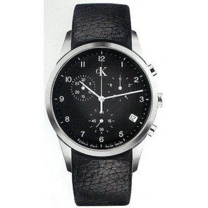 Watch strap Calvin Klein K600058950 / K2227102 Leather Black