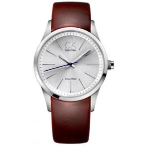 Watch strap Calvin Klein K2241138 Leather Brown