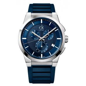 Watch strap Calvin Klein K2S371 Rubber Blue
