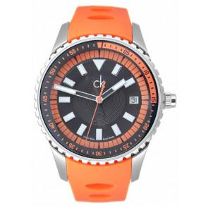 Watch strap Calvin Klein K32112 Rubber Orange
