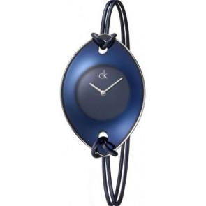 Watch strap Calvin Klein K33237 Leather/Textiles Blue