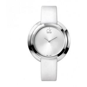 Watch strap Calvin Klein K3U231 Leather White