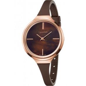 Watch strap Calvin Klein K4U236 Rubber Brown