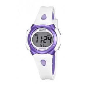 Watch strap Calypso K5609-2 Rubber White