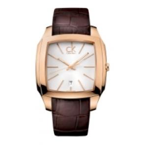 Calvin Klein watch strap K600.000.095 Leather Brown 20mm