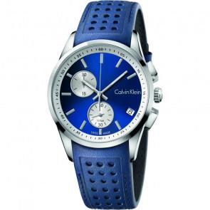 Watch strap Calvin Klein K600.000.258 / K5A371VN Leather Blue