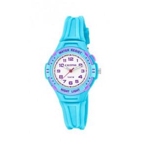 Watch strap Calypso K6070-2 Rubber Light blue