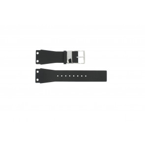 Watch strap K7547100 / K600060218 Leather/Plastic Black 25mm