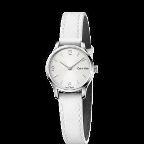 Watch strap Calvin Klein K7V231 Leather White 12mm