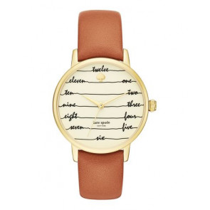 Watch strap Kate Spade New York KSW1237 Leather Brown 16mm