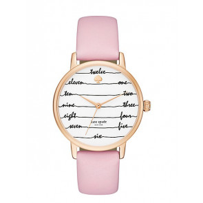 Watch strap Kate Spade New York KSW1239 Leather Pink