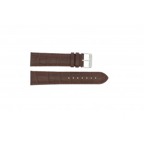 Watch strap 305.02.20 XL Leather Brown 20mm + brown stitching