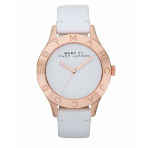 Watch strap Marc by Marc Jacobs MBM1201 Leather White 18mm